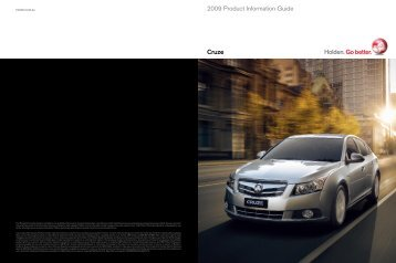 Cruze 2009 Product Information Guide - Holden