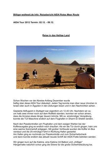 "Reisebericht AIDA ""Rotes Meer"" - HOLIDAY LAND Billiger-weltweit ..."