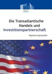 TTIP - Regulierungsaspekte - Europa