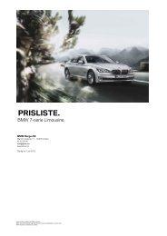 prisliste. - BMW