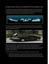 Excellent limousine service in Fort Lauderdale and Port Everglades in USA