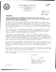 transmittal letter: and distribution list for draft remedial decision ...