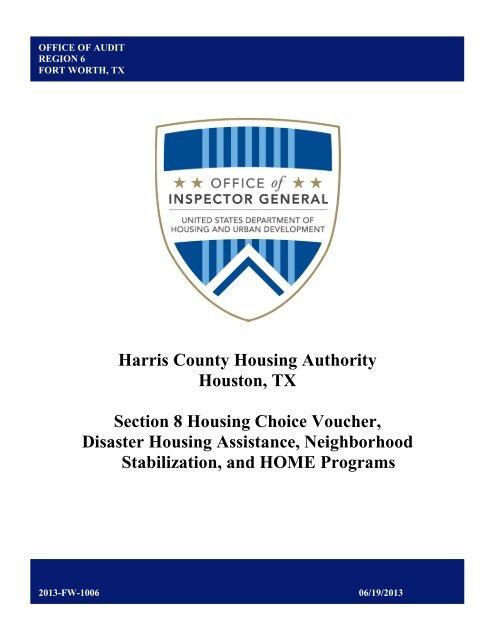Harris County Housing Authority Houston, TX Section 8