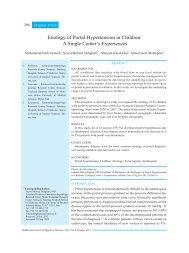Etiology of Portal Hypertension in Children: A Single Center's ... - IAGH