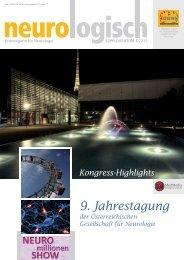 Supplementum 3/2011 - Österreichische Gesellschaft für Neurologie