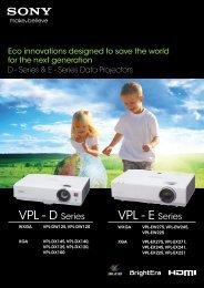 VPL-EX241 Brochure - Projectisle