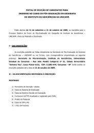 edital de seleção de candidatos para ingresso no ... - IGEO- Unicamp