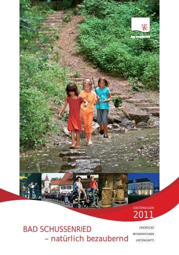Gästemagazin 2011 - Bad Schussenried