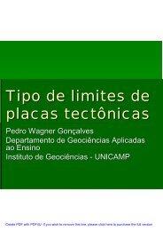 Tipo de limites de placas tectônicas