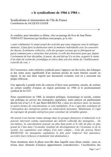 16_SyndicatStructuration_J leger - Institut d'Histoire Sociale CGT