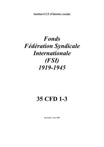 35 CFD FSI - Institut d'Histoire Sociale CGT