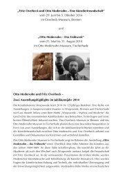 Overbeck und Modersohn - 2014 - Otto Modersohn Museum