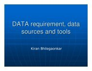 DATA requirement, data sources and tools - ILSI India
