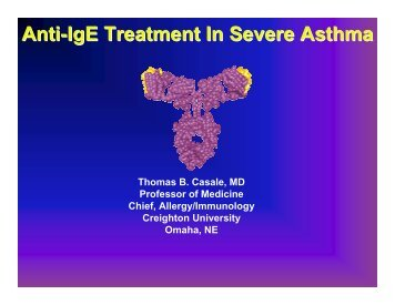 Anti-IgE treatment in severe asthma - World Allergy Organization