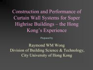 Construction And Performance Of Curtain Wall Systems For
