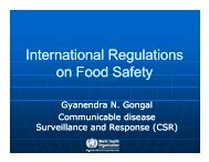 International Regulations on Food Safety by Gyanendra ... - ILSI India