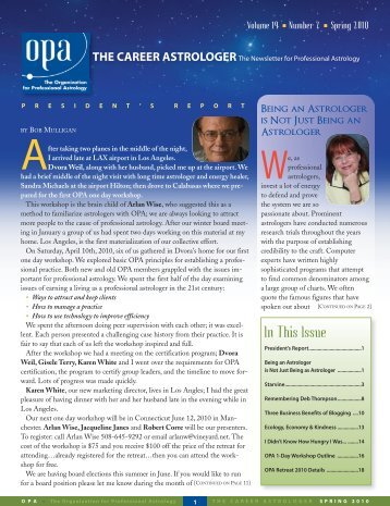 Spring 2010 - The Organization for Professional Astrology
