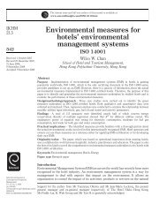 Environmental measures for hotels - Les Roches International ...