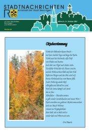 Mittwoch, 31. Oktober 2007 Woche 44 - Stadt Renningen