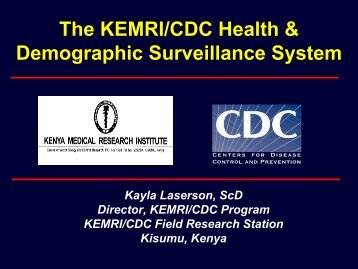 The KEMRI/CDC Health & Demographic Surveillance System