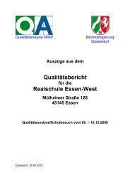 Auszüge aus dem Qualitätsbericht für die Realschule Essen-West
