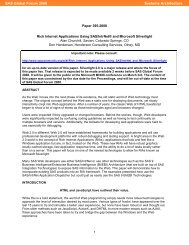 395-2008: Rich Internet Applications Using SAS/IntrNet® and ...