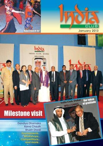Milestone visit - India Club, Dubai, UAE