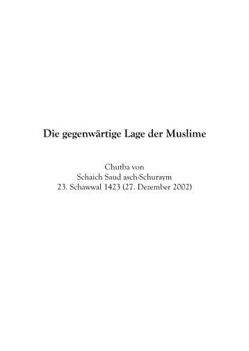Die gegenwärtige Lage der Muslime - Salaf.de