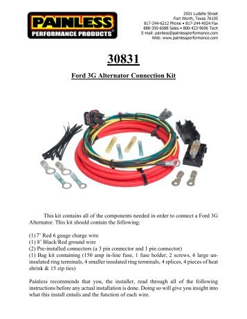 30831 ford 3g alternator connection kit painless wiring?quality=85 dual activation electric fan relay kit painless wiring  at n-0.co