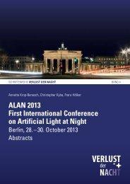 ALAN 2013 First International Conference on ... - Verlust der Nacht