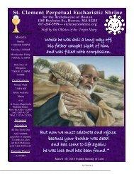 March 10, 2013 - St. Clement Eucharistic Shrine