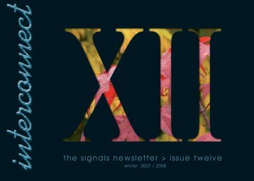 Interconnect XII - Signals - UK.COM