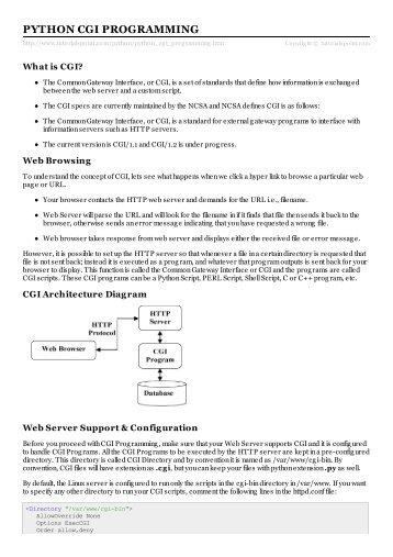 Python CGI Programming - Tutorials Point