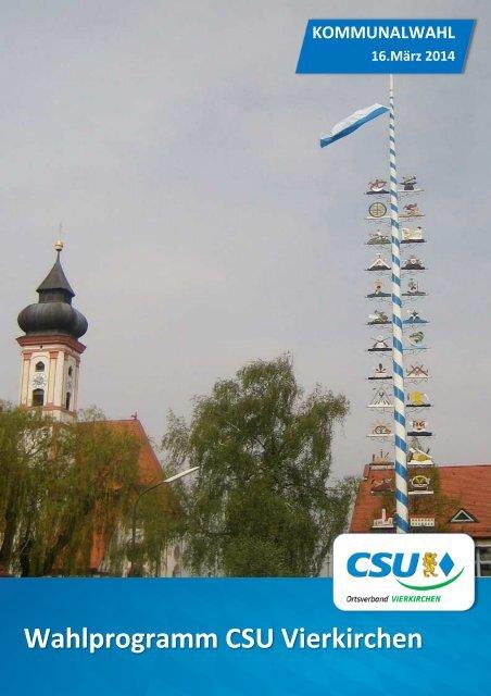 Wahlprogramm CSU Vierkirchen 2014