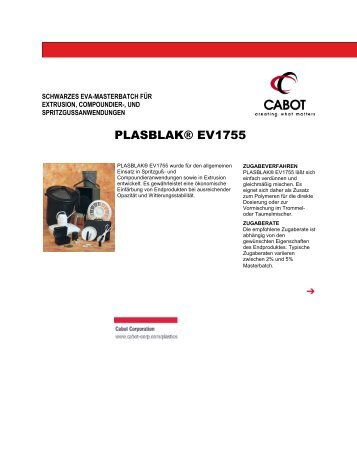PLASBLAK® EV1755 - Cabot Corporation