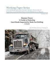 A Guide to Protecting Local Roads Impacted by Shale Gas Drilling