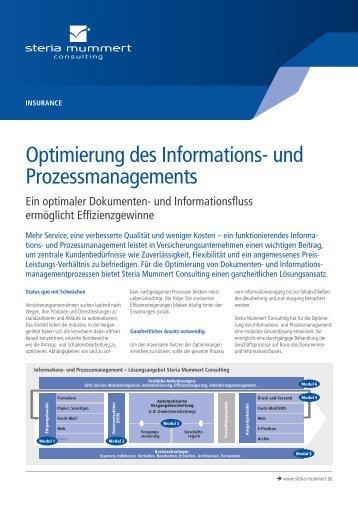 Optimierung des Informations- und Prozessmanagements - Steria