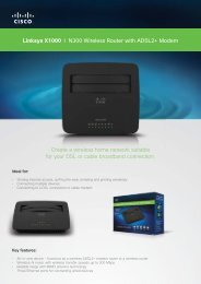 Linksys X1000 I N300 Wireless Router with ADSL2+ ... - MgManager