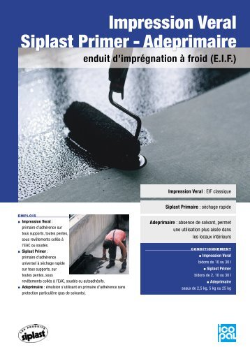 Impression Veral Siplast Primer - Adeprimaire Impression ... - Point.P