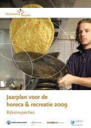 Jaarplan voor de horeca & recreatie 2009 - Inspectieloket