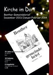 Gemeindebrief Dezember 2013 - Kirchenkreis Ronnenberg