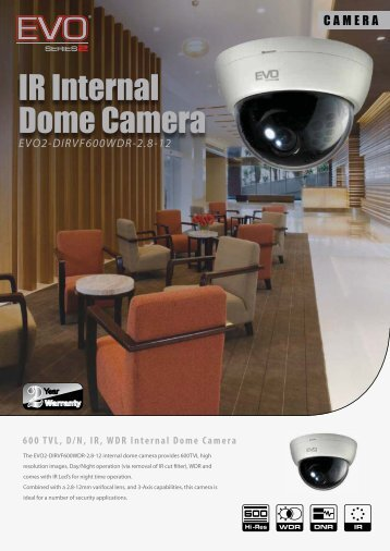 IR Internal Dome Camera