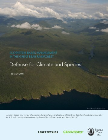 Defense for Climate and Species