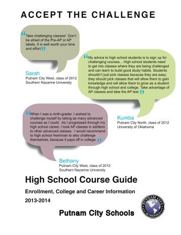 High School Course Guide 2013-2014 - Putnam City Schools
