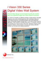 i Vision 330 Series Digital Video Wall System - Interactive Systems