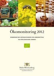 Ökomonitoring 2012 - Lebensmittelüberwachung und ...