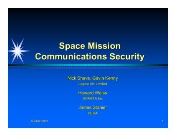Space Mission Communications Security - USC Center for Systems ...