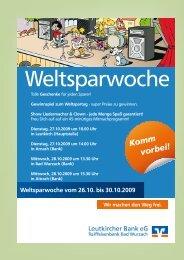 Weltsparwoche - Bad Wurzach