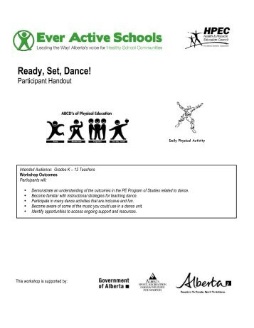Ready, Set, Dance! Participant Handout 2012 - Ever Active Schools