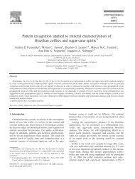 Pattern recognition applied to mineral characterization of Brazilian ...